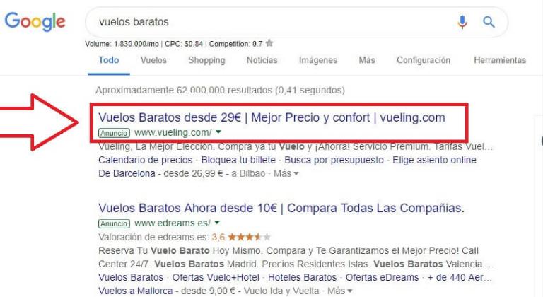 Comparaison entre les publicités Google et Facebook
