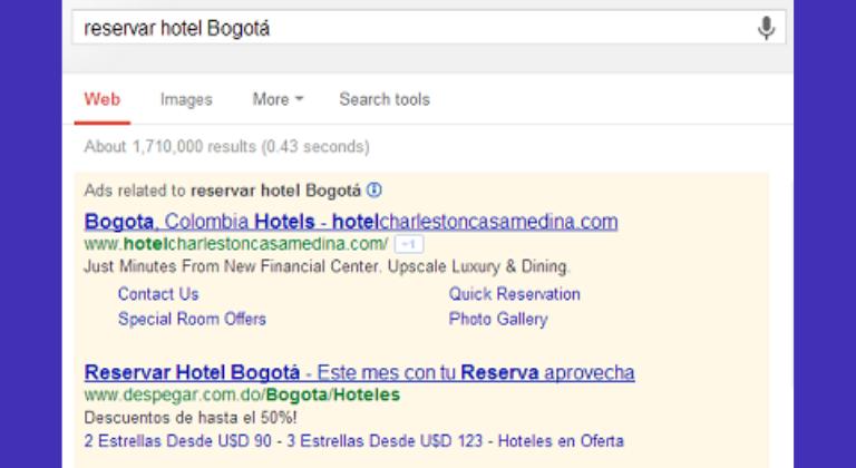 Annonce sur le Réseau de Recherche de Google